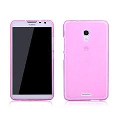 Carcasa Gel Ultrafina Transparente para Huawei Ascend Mate 2 Rosa