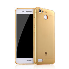 Carcasa Gel Ultrafina Transparente para Huawei Enjoy 5S Oro