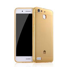 Carcasa Gel Ultrafina Transparente para Huawei G8 Mini Oro