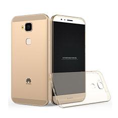 Carcasa Gel Ultrafina Transparente para Huawei G8 Oro