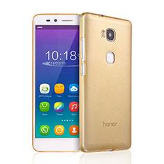 Carcasa Gel Ultrafina Transparente para Huawei GR5 Oro