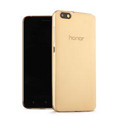 Carcasa Gel Ultrafina Transparente para Huawei Honor 4X Oro