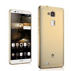 Carcasa Gel Ultrafina Transparente para Huawei Mate 7 Oro