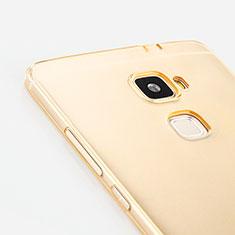 Carcasa Gel Ultrafina Transparente para Huawei Mate S Oro
