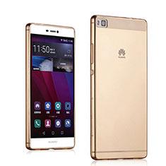 Carcasa Gel Ultrafina Transparente para Huawei P8 Oro