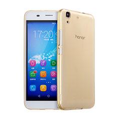 Carcasa Gel Ultrafina Transparente para Huawei Y6 Oro