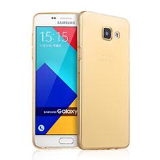 Carcasa Gel Ultrafina Transparente para Samsung Galaxy A9 Pro (2016) SM-A9100 Oro