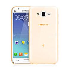 Carcasa Gel Ultrafina Transparente para Samsung Galaxy J3 Oro