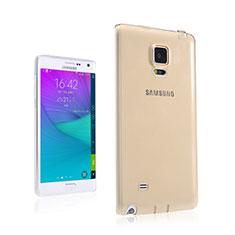 Carcasa Gel Ultrafina Transparente para Samsung Galaxy Note Edge SM-N915F Oro