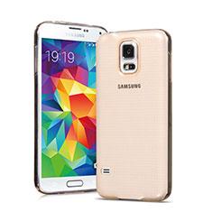 Carcasa Gel Ultrafina Transparente para Samsung Galaxy S5 Duos Plus Oro