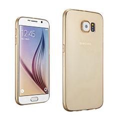 Carcasa Gel Ultrafina Transparente para Samsung Galaxy S6 Duos SM-G920F G9200 Oro