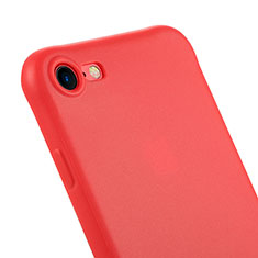 Carcasa Silicona Goma C01 para Apple iPhone 7 Rojo