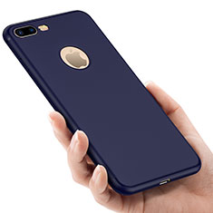 Carcasa Silicona Goma con Agujero para Apple iPhone 8 Plus Azul