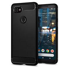 Carcasa Silicona Goma para Google Pixel 2 XL Negro