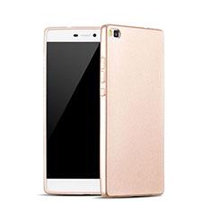 Carcasa Silicona Goma para Huawei P8 Oro