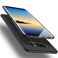 Carcasa Silicona Goma para Samsung Galaxy Note 8 Duos N950F Negro