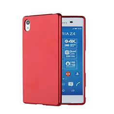Carcasa Silicona Goma para Sony Xperia Z4 Rojo