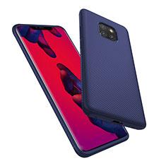 Carcasa Silicona Goma Twill para Huawei Mate 20 Pro Azul