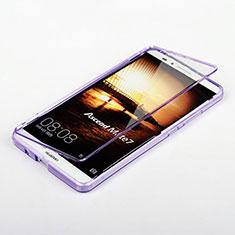 Carcasa Silicona Transparente Cubre Entero para Huawei Mate 7 Morado