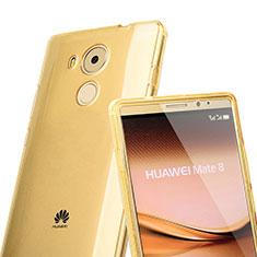 Carcasa Silicona Transparente Cubre Entero para Huawei Mate 8 Oro