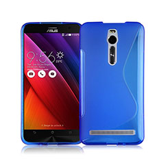 Carcasa Silicona Transparente S-Line para Asus Zenfone 2 ZE551ML ZE550ML Azul