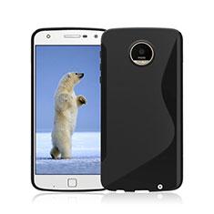 Carcasa Silicona Transparente S-Line para Motorola Moto Z Play Negro