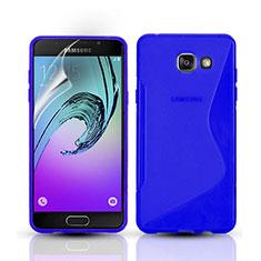 Carcasa Silicona Transparente S-Line para Samsung Galaxy A3 (2016) SM-A310F Azul