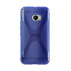 Carcasa Silicona Transparente X-Line para HTC 10 One M10 Azul