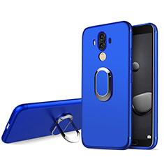 Carcasa Silicona Ultrafina Goma con Anillo de dedo Soporte para Huawei Mate 10 Pro Azul