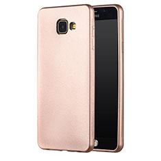 Carcasa Silicona Ultrafina Goma para Samsung Galaxy A7 (2017) A720F Oro