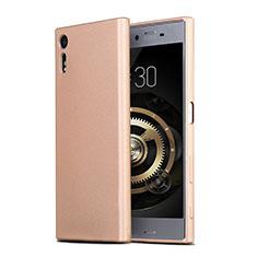 Carcasa Silicona Ultrafina Goma para Sony Xperia XZs Oro