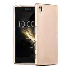 Carcasa Silicona Ultrafina Goma para Sony Xperia Z5 Oro
