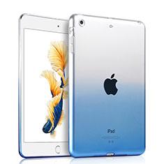 Carcasa Silicona Ultrafina Transparente Gradiente para Apple iPad Air Azul