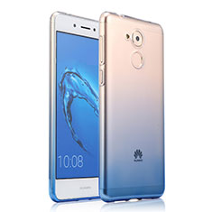 Carcasa Silicona Ultrafina Transparente Gradiente para Huawei Enjoy 6S Azul