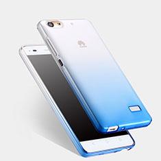 Carcasa Silicona Ultrafina Transparente Gradiente para Huawei G Play Mini Azul