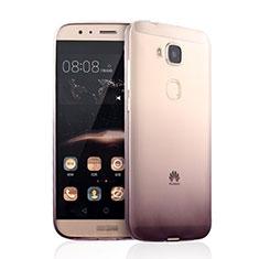 Carcasa Silicona Ultrafina Transparente Gradiente para Huawei G7 Plus Marron
