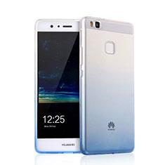 Carcasa Silicona Ultrafina Transparente Gradiente para Huawei G9 Lite Negro