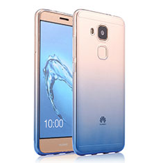 Carcasa Silicona Ultrafina Transparente Gradiente para Huawei G9 Plus Azul