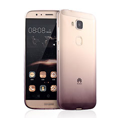 Carcasa Silicona Ultrafina Transparente Gradiente para Huawei GX8 Marron