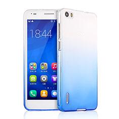 Carcasa Silicona Ultrafina Transparente Gradiente para Huawei Honor 6 Azul