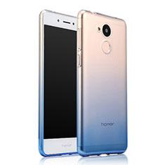 Carcasa Silicona Ultrafina Transparente Gradiente para Huawei Honor 6A Azul