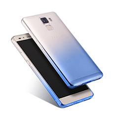 Carcasa Silicona Ultrafina Transparente Gradiente para Huawei Honor 7 Dual SIM Azul