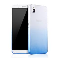 Carcasa Silicona Ultrafina Transparente Gradiente para Huawei Honor 7i shot X Azul