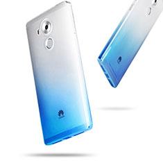 Carcasa Silicona Ultrafina Transparente Gradiente para Huawei Mate 8 Azul