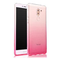 Carcasa Silicona Ultrafina Transparente Gradiente para Huawei Mate 9 Lite Rosa