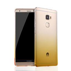 Carcasa Silicona Ultrafina Transparente Gradiente para Huawei Mate S Amarillo