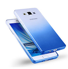 Carcasa Silicona Ultrafina Transparente Gradiente para Samsung Galaxy A5 SM-500F Azul