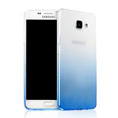 Carcasa Silicona Ultrafina Transparente Gradiente para Samsung Galaxy A7 (2016) A7100 Azul