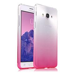 Carcasa Silicona Ultrafina Transparente Gradiente para Samsung Galaxy J3 Pro (2016) J3110 Rosa