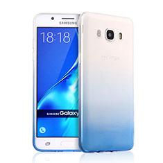 Carcasa Silicona Ultrafina Transparente Gradiente para Samsung Galaxy J5 (2016) J510FN J5108 Azul